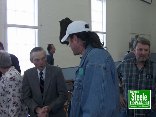 Dennis talks with Mr. Rainville about his farm